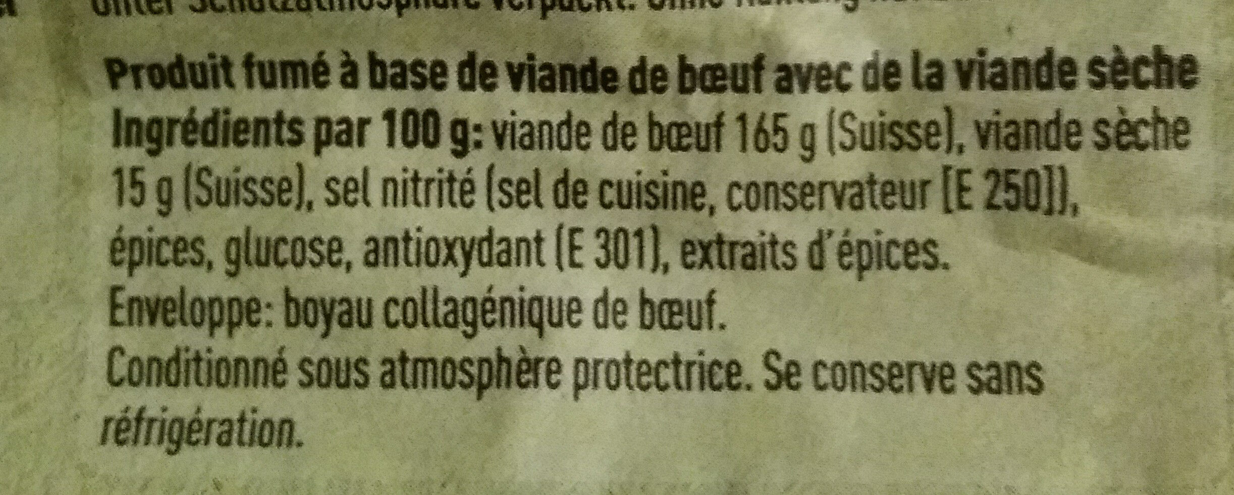 Bâtonnet de boeuf Angus - Ingredients - fr
