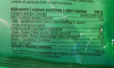 Bonbons aux herbes - Nutrition facts
