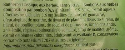 Classique Aux herbes, sans sucres - Ingrédients