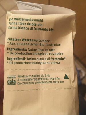 Farine fleur BIO (500 g) - Ingredienti - fr