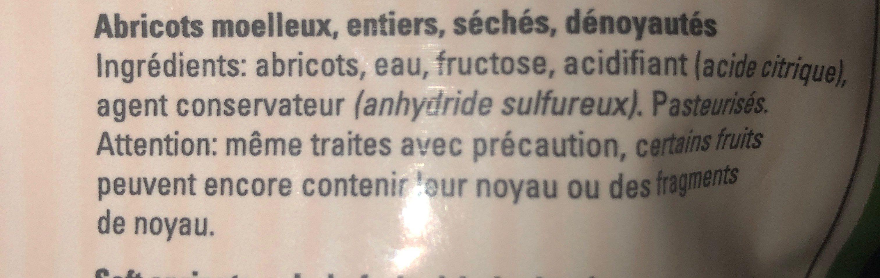 Necta Abricot Tendre Denoyaute - Ingrédients - fr
