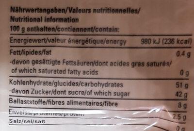 Figs - Informazioni nutrizionali - en