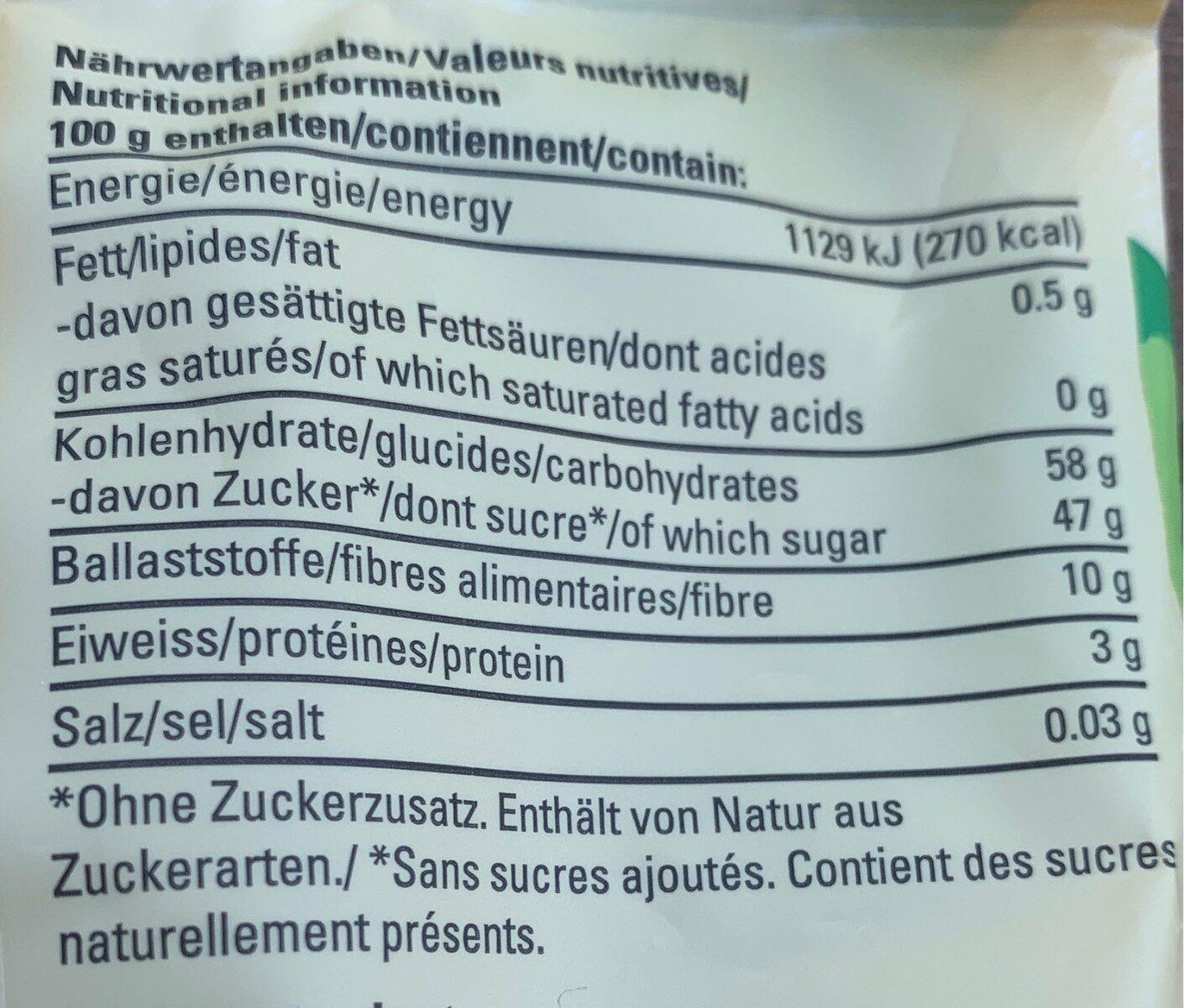Figues - Valori nutrizionali - fr