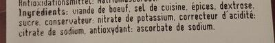 Viande Séchée - Ingredients