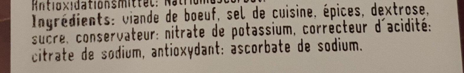 Viande Séchée - Ingredients - fr