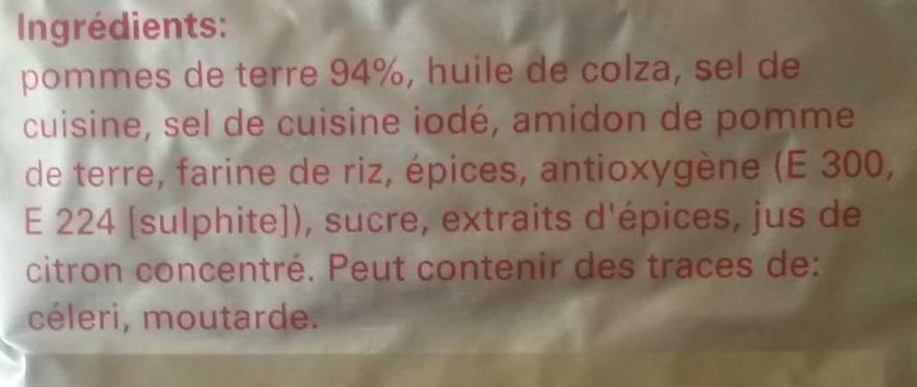 Volg Rösti - Ingrédients - fr