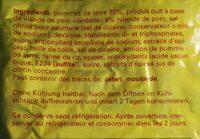 Rösti au lardons - Ingrédients - fr