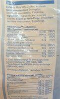Volg Cornflakes - Informazioni nutrizionali - fr