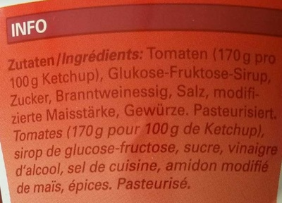 Tomato ketchup - Ingredients - fr