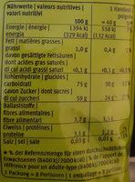 Raisins Sultanines Secs - Informations nutritionnelles - fr