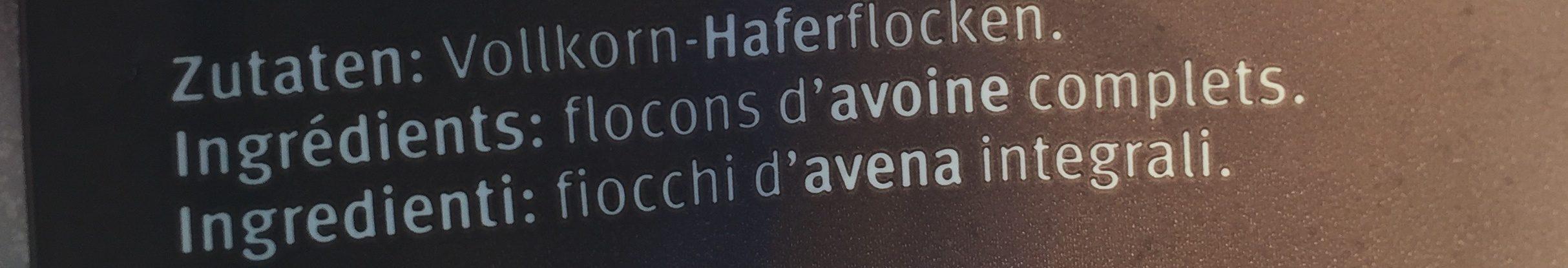 Vollkorn Haferflocken (Grob) - Ingrediënten