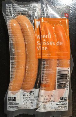 Saucisses de Vienne - Produit - fr