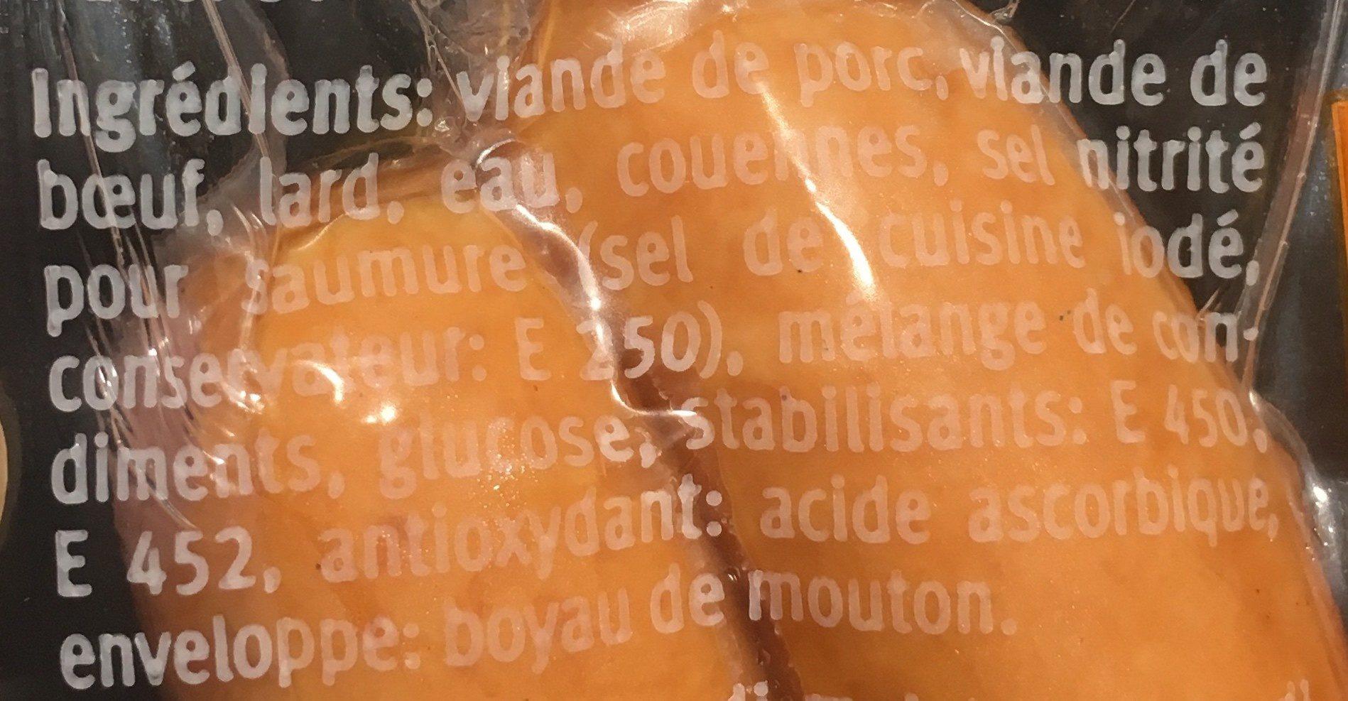 Saucisses de Vienne - Ingrédients - fr