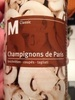 Champignons - Produit