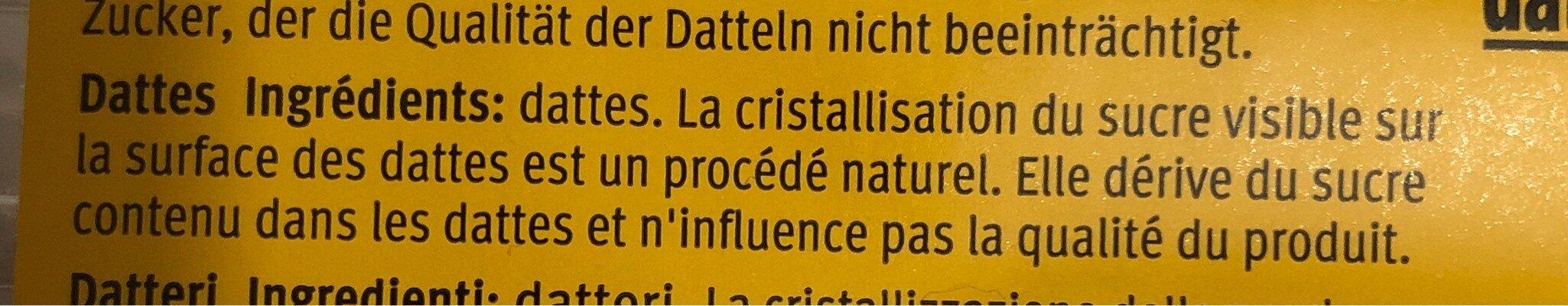 Dates - Ingredienti - fr