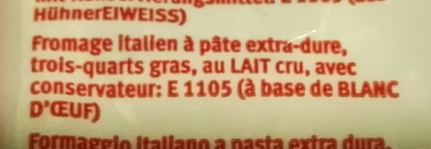 Grana padano - Ingrediënten