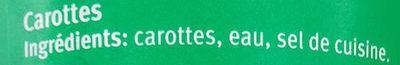Carottes baby - Ingrédients - fr