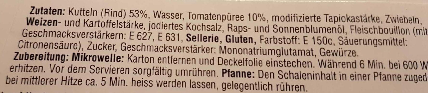 Kutteln - Ingredients - de
