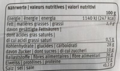 Shiitake séchés - Voedingswaarden - fr