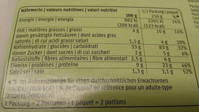 Tortelloni ricotta e spinaci - Nutrition facts