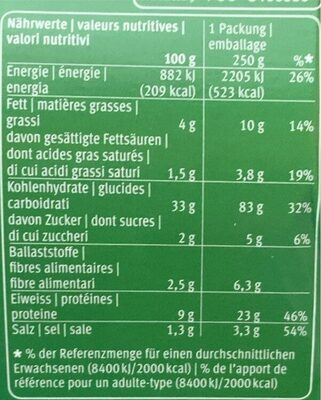 Tortelloni ricota e spinaci - Valori nutrizionali - it