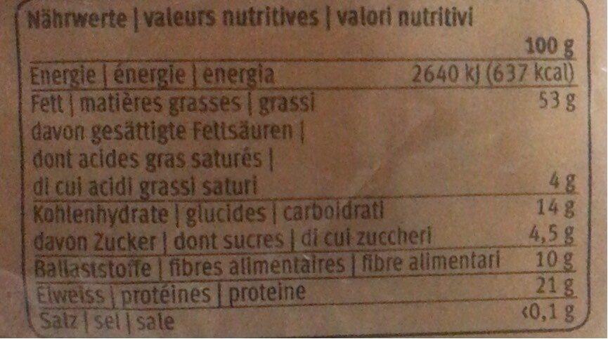 Amandes effilées - Informations nutritionnelles - fr