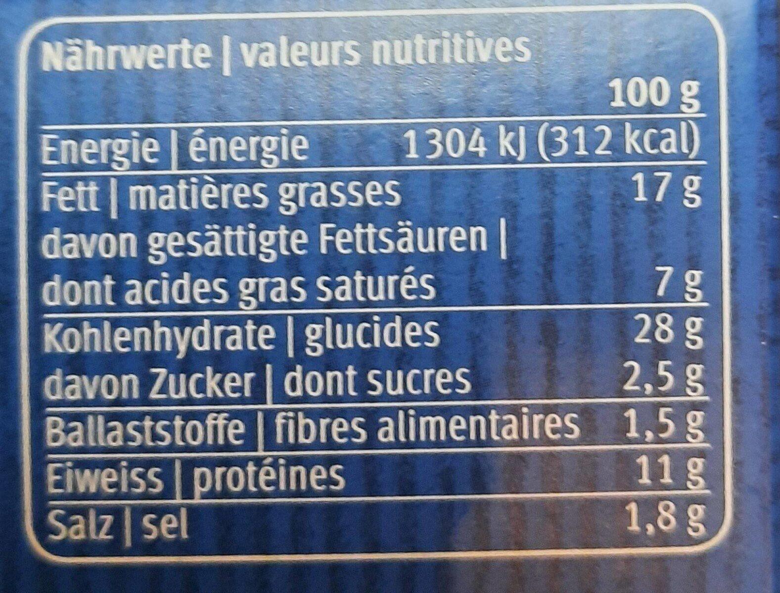 Pastete - Informations nutritionnelles - fr