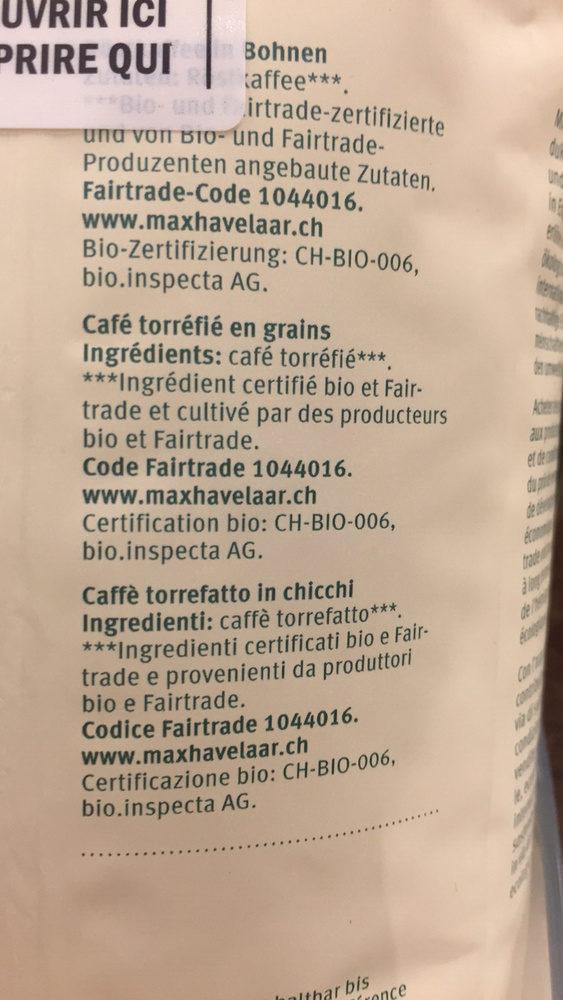 Kaffee - MIGROS BIO - 500 g