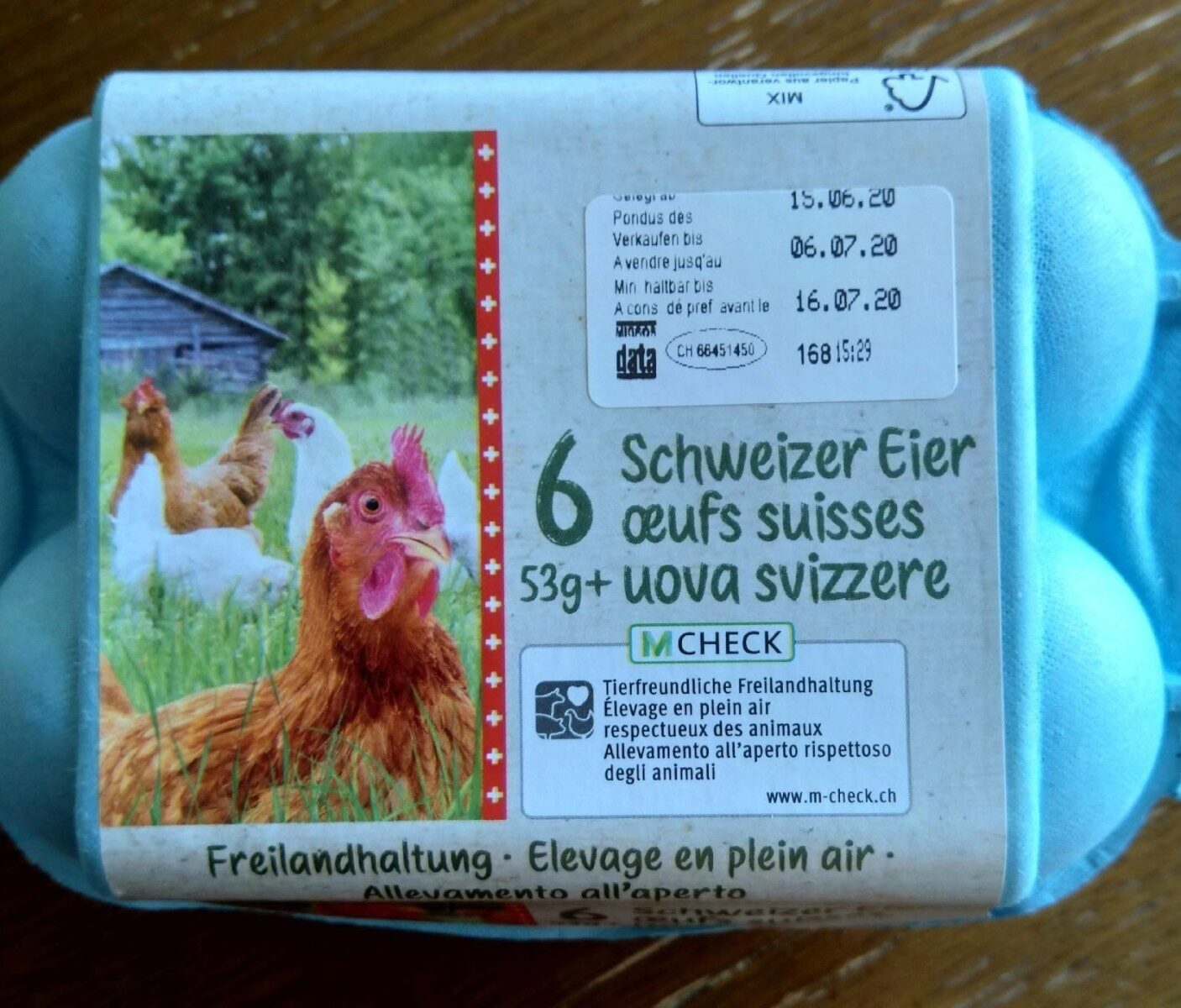 Oeufs Suisse - Nutrition facts - fr