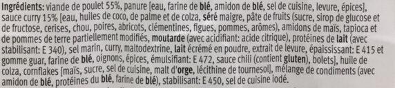 Poulet Curry Bols - Ingredienti - fr