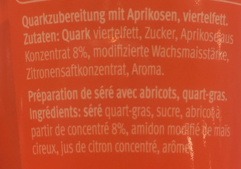 Mclassic Quark, Aprikose - Ingredients - fr