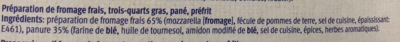 Mozzarella sticks - Ingredienti - fr