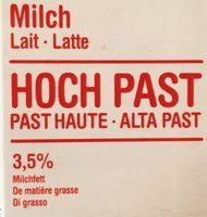 Lait Milch Latte - Hoch past - Ingrédients