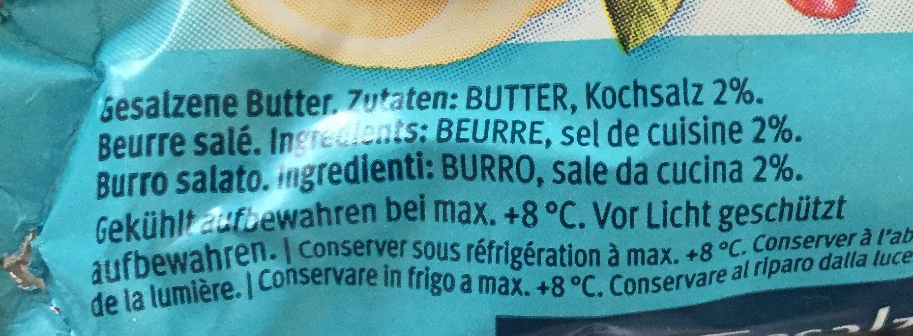 Beurre Salé - Ingrediënten