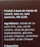 Canard croustillant - Ingredients - fr