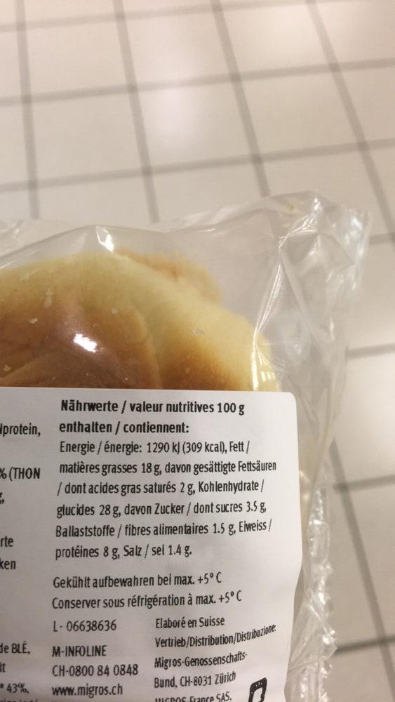Petit pain au thon - Nutrition facts