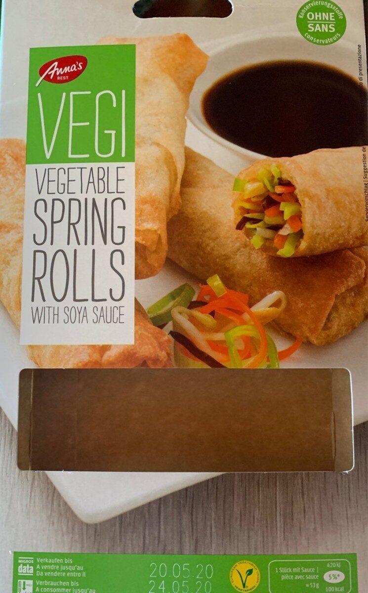 Vegetable spring rolls - Product - fr
