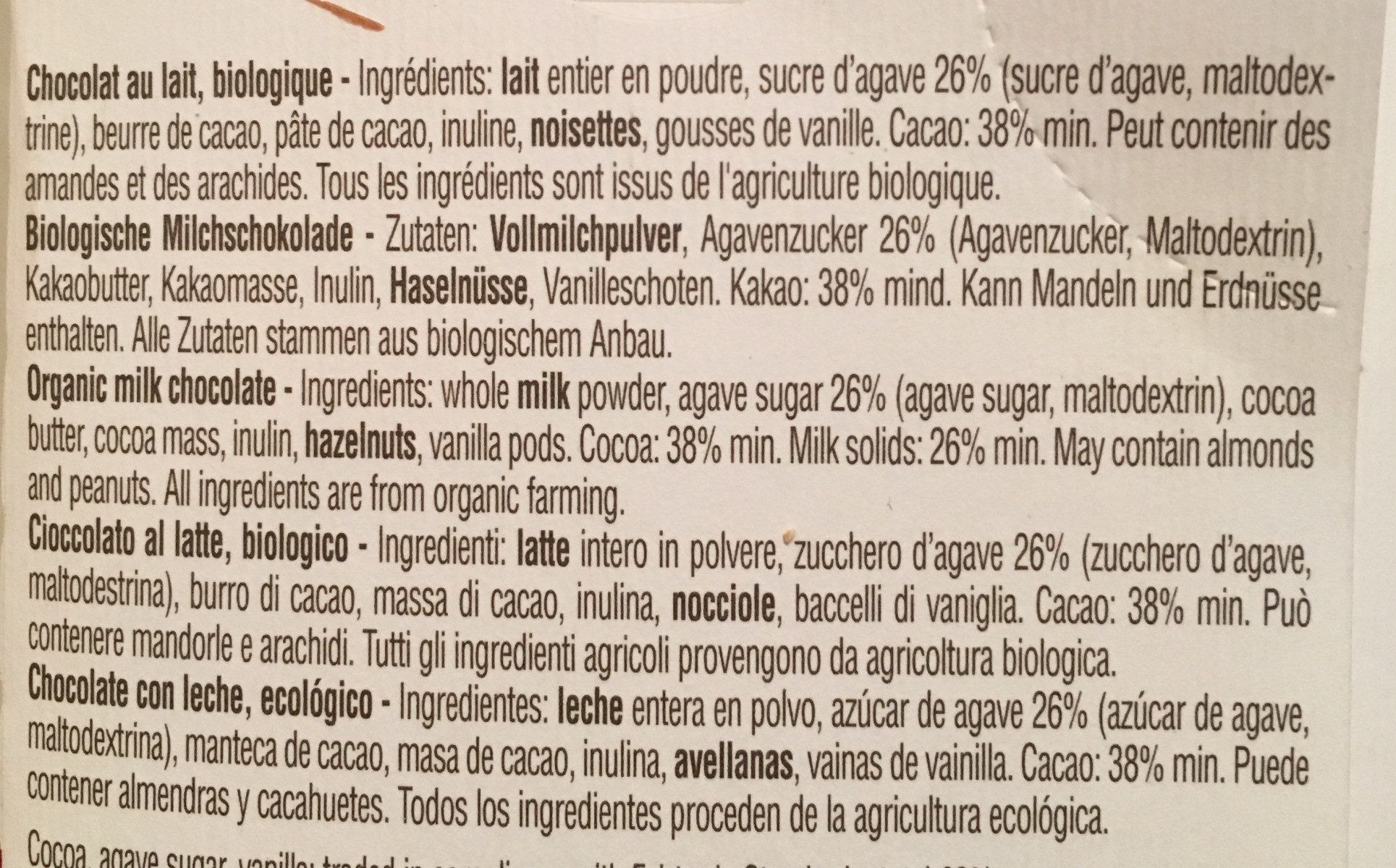 Agave nectar - Ingredients - fr