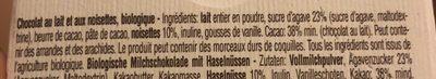 Milk Chocolate Whole Hazelnuts Agave Nectar - Ingrediënten - fr