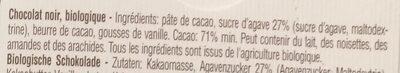Agave Nectar, Cacao 71%, Bio & Fair - Ingredients