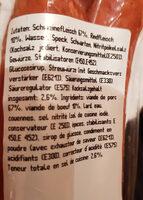 Saucisse de l'Emmental - Ingredienti - fr