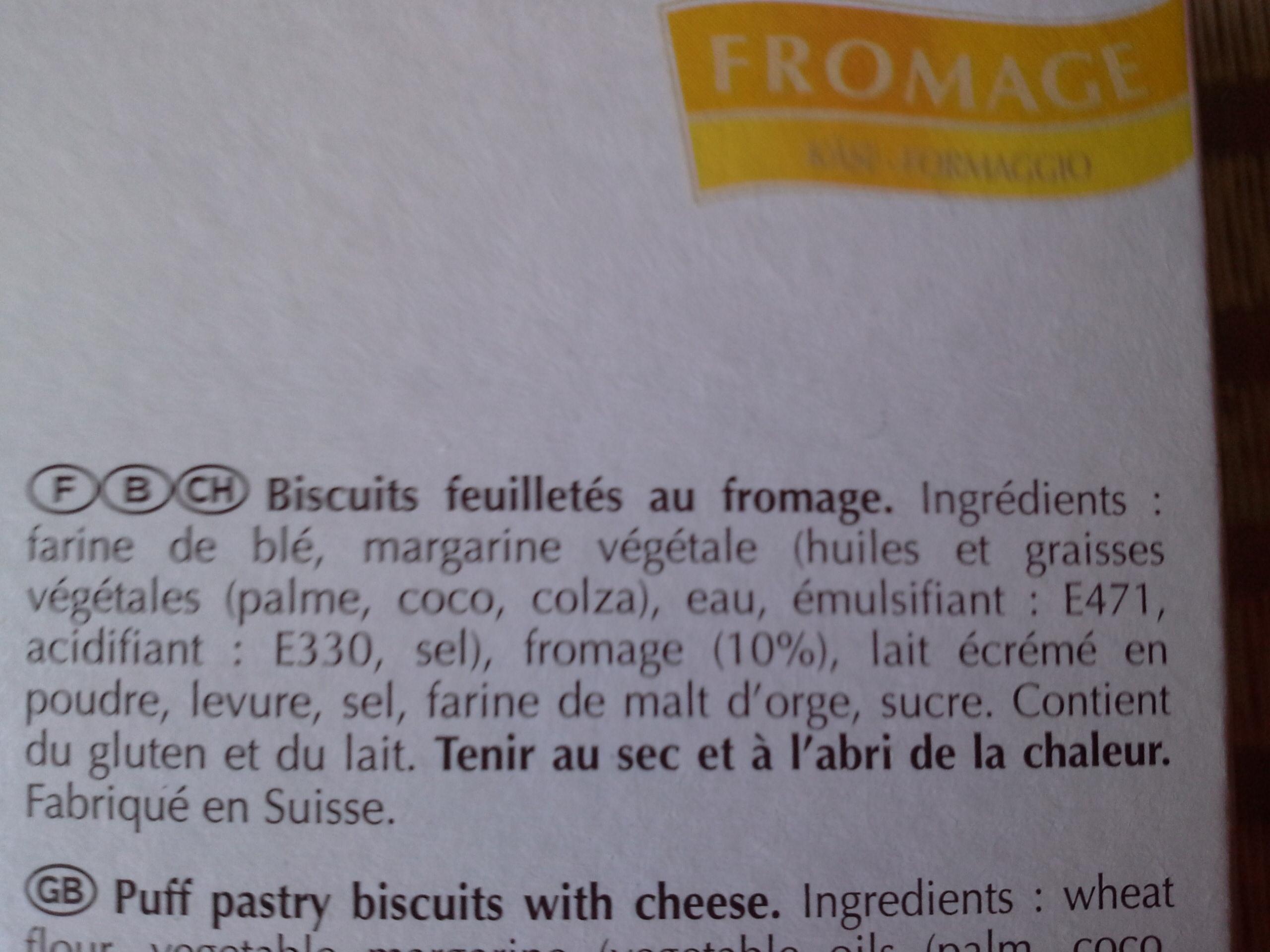 Twist fromage - Ingrédients