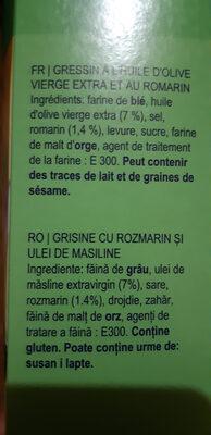gressins - Ingredients - ro