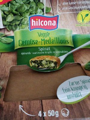 Hilcona Veggie Gemüse medaillons Spinat - Produit