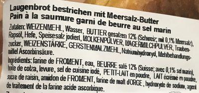 Butterbrezel - Ingrédients - fr