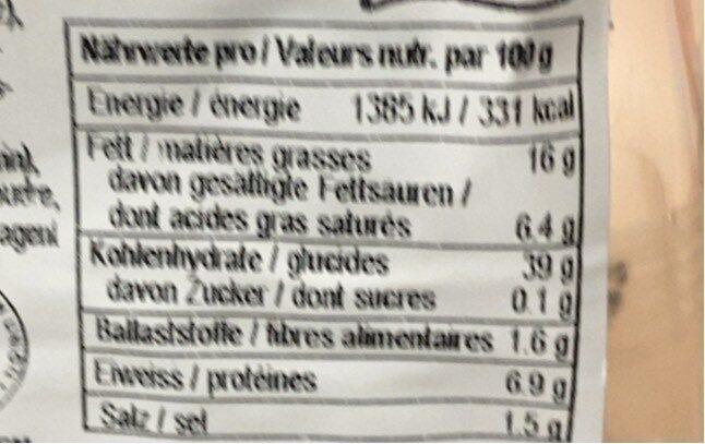Butterbrezel - Informations nutritionnelles - fr