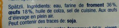 Spatzlini minis - Inhaltsstoffe