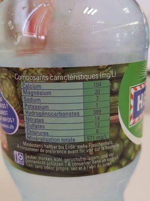 Henniez verte - Ingredients - fr