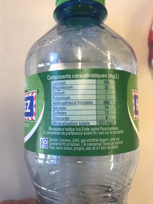 Henniez verte - Nutrition facts - fr