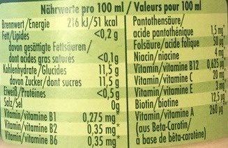 Granini - Voedingswaarden - fr